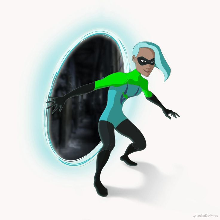 made a digital drawing of voyd from the incredibles 2 fanart oc