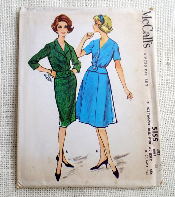 Vintage Pattern McCall's 5155 dress sewing by momandpopcultureshop, $32.00
