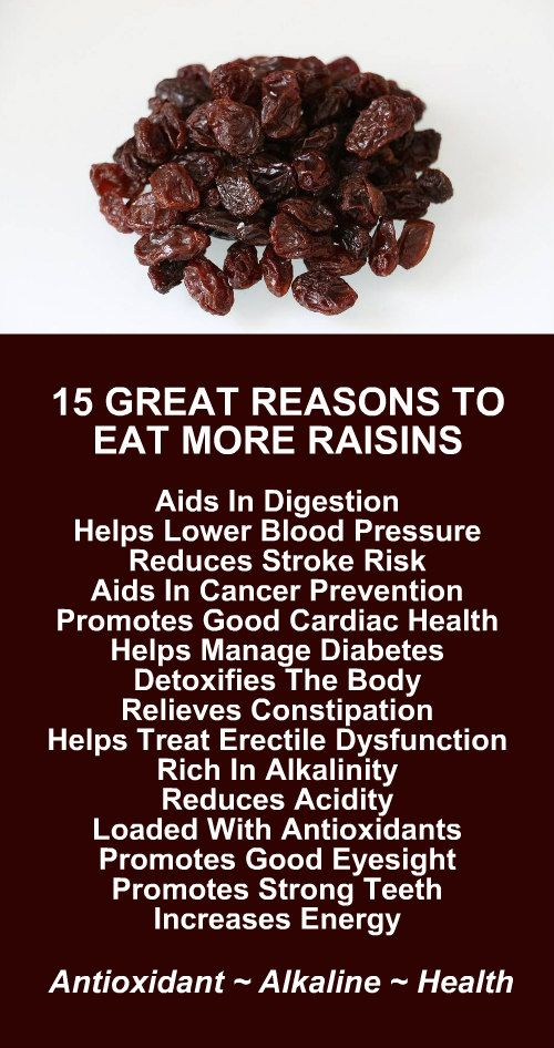 15 Great Reasons To Eat More Raisins. Get healthy and lose weight with our alkaline rich, antioxidant loaded, weight loss products that help you increase energy, detox, cleanse, burn fat and lose weight more efficiently without changing your diet, increasing your exercise, or altering your lifestyle. LEARN MORE #Antioxidants #Alkaline #Detox #Cleanse #FatBurning #WeightLoss #MetabolismBoosting