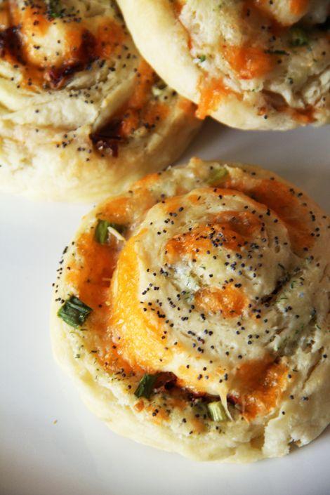 Savoury Spiral Scones | #winter #fall #recipe