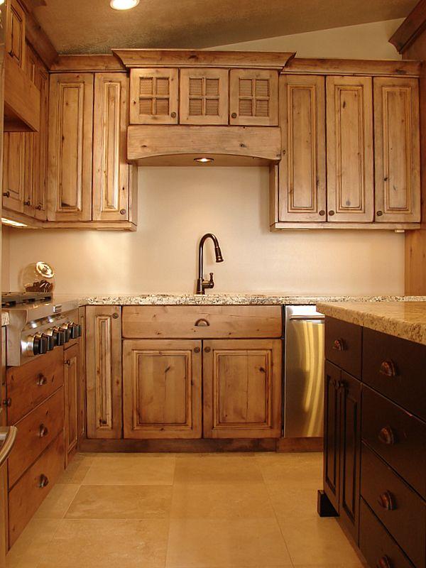 knotty alder | Rustic Knotty Alder Cabinets
