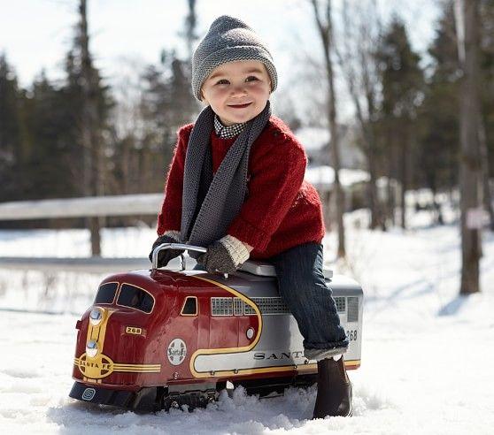 Lionel Santa Fe Train Ride-On | Pottery Barn Kids