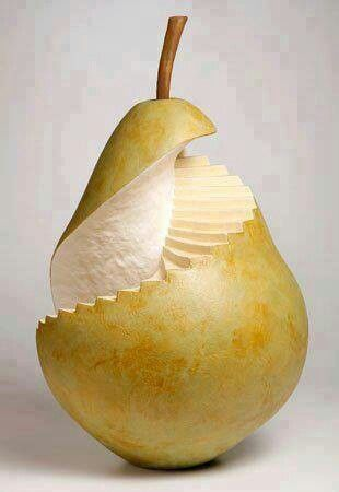Food art, food design equals thrilling leaps for your senses. A recipe for an exciting eating adventure. I mean it's a pear! Send this foodie an instructive lifesaving greeting card from ScripTease Rx. $3.95 Click here: http://scripteaserx.storenvy.com/products/2001309-foodafed