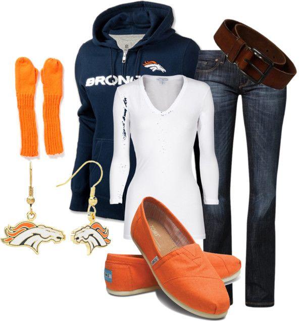 """Denver Broncos BABY!"" by erikaleyva on Polyvore"