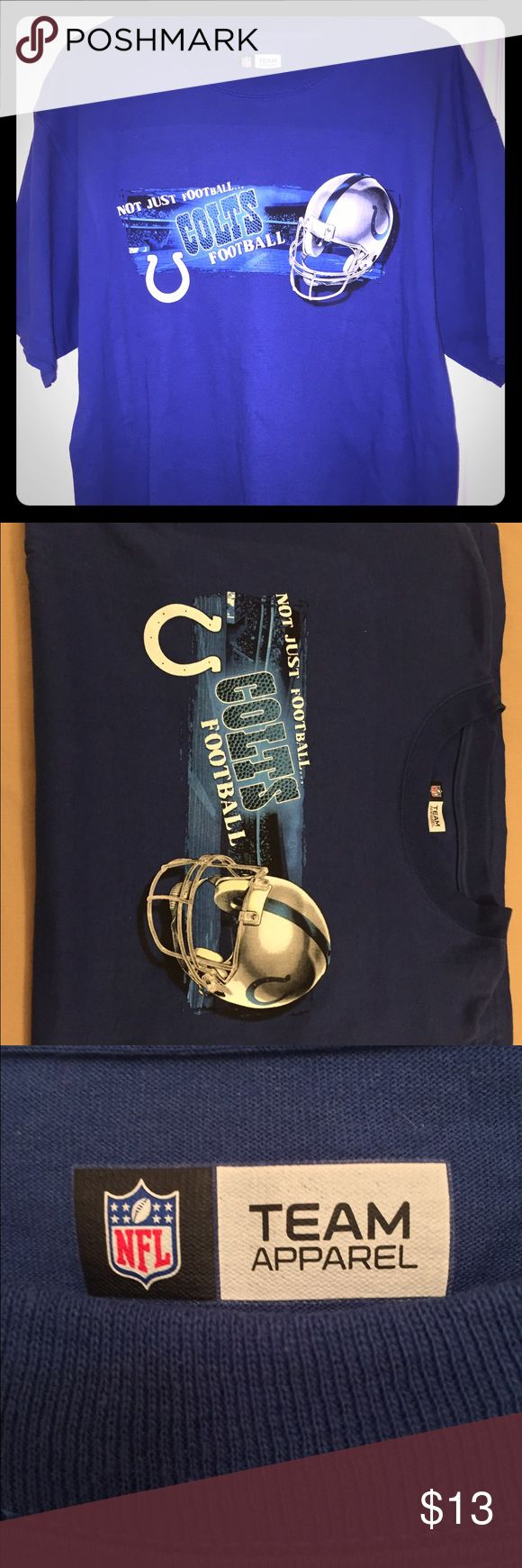 Men's NFL Team Apparel Indianapolis Colts Large T Great condition! / Large / NFL TEAM Apparel Brand NFL TEAM Apparel Shirts Tees - Short Sleeve