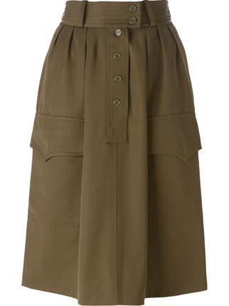 Yves Saint Laurent Vintage military skirt