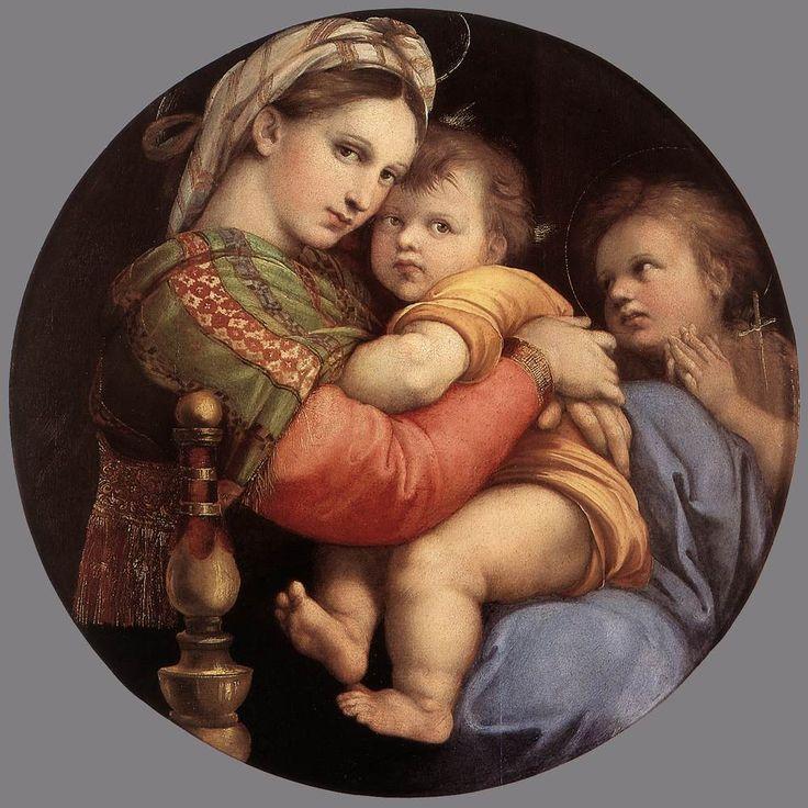 Raffaello Sanzio - Madonna della seggiola, 1513