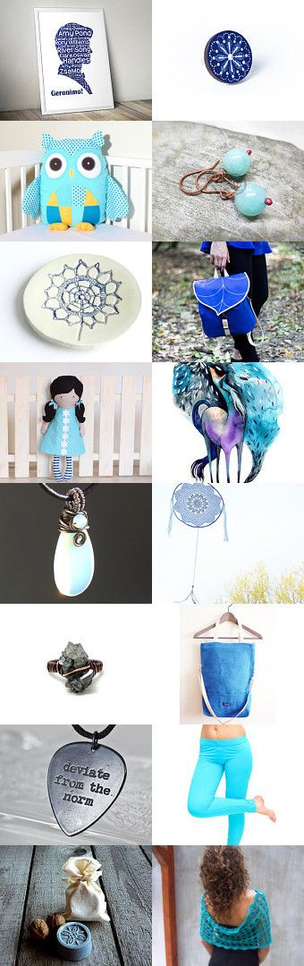 Hungarian blue by Erzsébet Kis Jakab on Etsy--Pinned with TreasuryPin.com