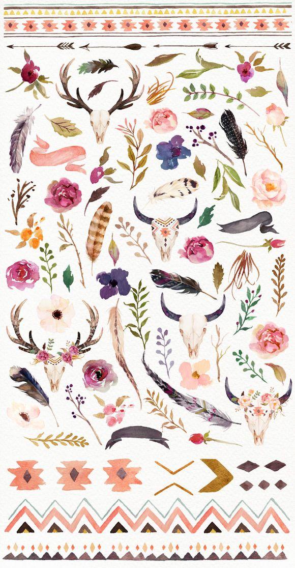 tribal watercolor designs