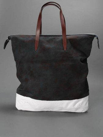 Dries Van Noten SHOPPER IN CAMOUFLAGE PRINTED CANVAS WITH TWO LEATHER HANDLES AND A ZIP FASTENING ACROSS THE TOP