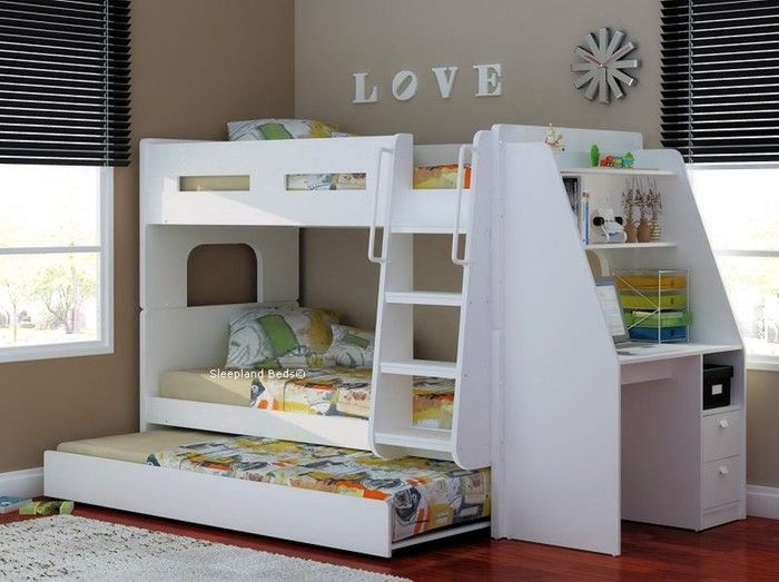 Olympic White Wooden Bunk Bed   Sleepland Beds