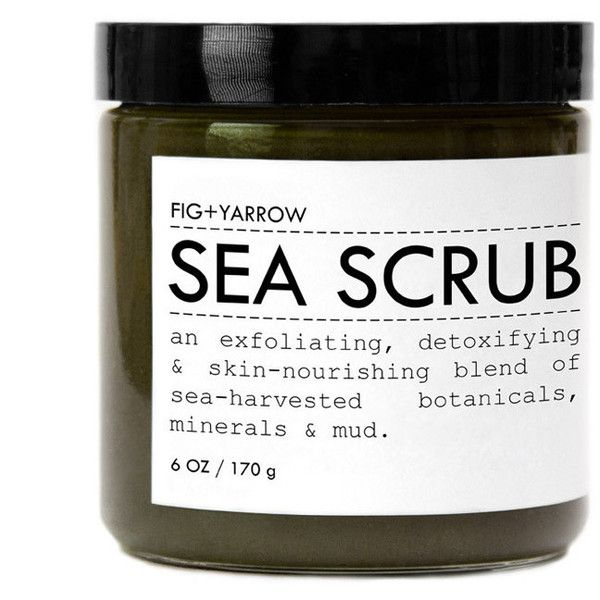 Sea Scrub Trial/Travel Size design by Fig and Yarrow ($22) ❤ liked on Polyvore featuring beauty products, bath & body products, body cleansers and spa essentials