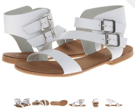 Sandale de vara joase albe ALDO Rensa din piele model gladiator. Alb sau negru, sunt superbe!