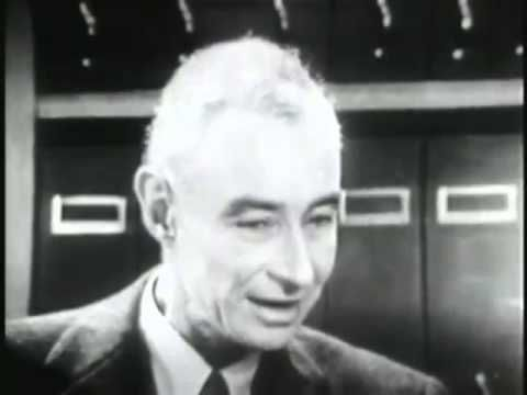 Interview with J. Robert Oppenheimer. (RARE)