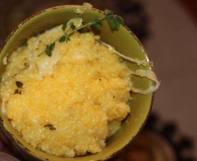 Creamy Polenta with Thyme and Parmesan (low FODMAP) | Recipe | The ...