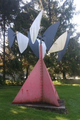 """Outdoor Sculpture Garden at the Nassau County Museum of Art: """"Sandy's Butterfly"""" by Alexander Calder"""
