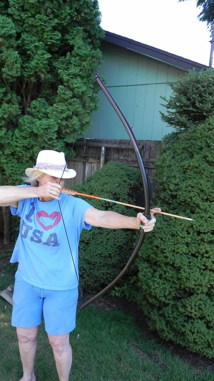 "Archery Light Weight Long Bow 20 30lb ""The Stinging Turtle's Twin"" 