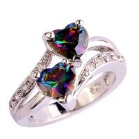Brand: lingmei ; Material:Stone; Style:Fashion; Metal:Silver;Main Stone:Rainbow Topaz ; Stone Size: