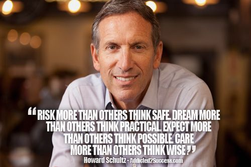 Howard Schultz Entrepreneur Picture Quote For Success