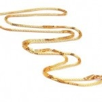 BIS Hallmarked 4gm Gold 22kt 16 Inches Chain at Rs.11600 only