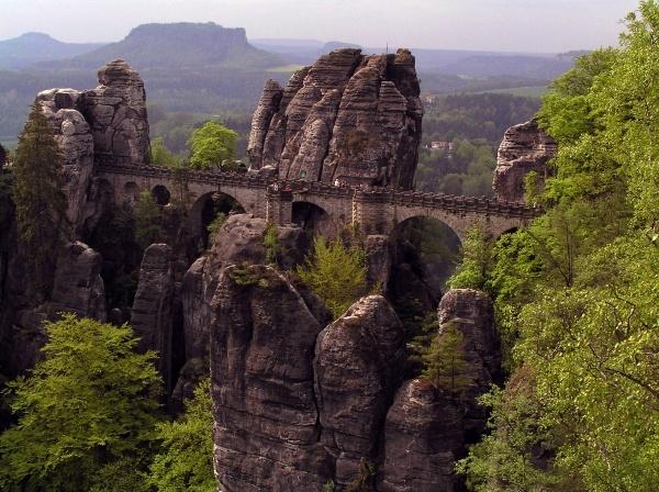 Famous rock formation in Saxon Switzerland near Dresden ...