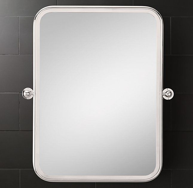 "Astoria Pivot Mirror 24""W x 30""H; 29""W at brackets; 17½ lbs. In several finishes"