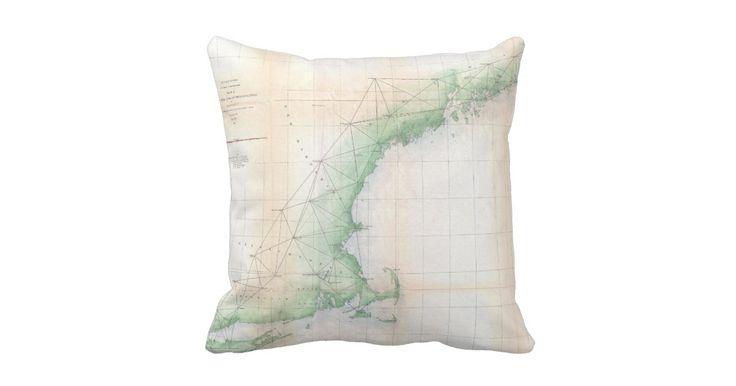 This is a vintage coastal map of New England produced in 1864.