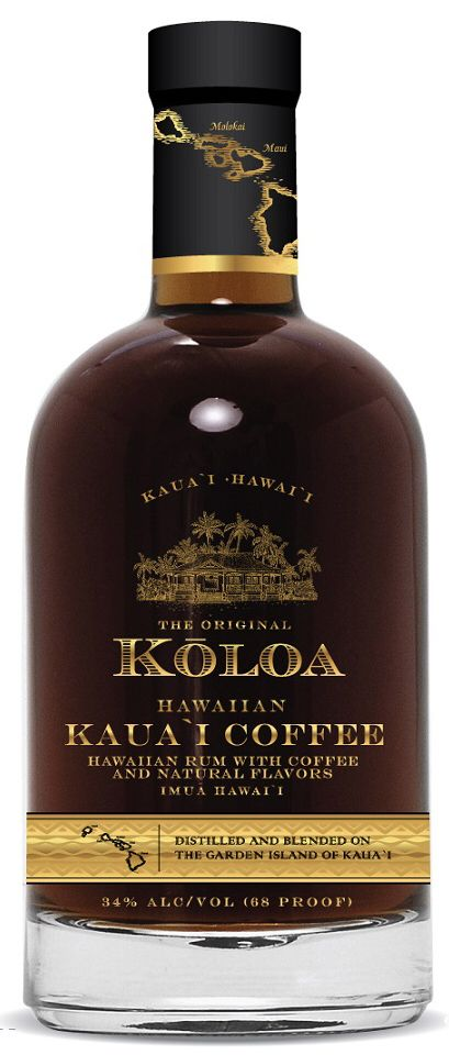 Koloa Rum Made with Kauai Dark Roast Coffee. New product!