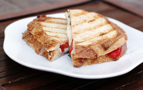 Caprese Paninis, Garlic Basil Mayo and How to Make a Panini without a Panini Maker