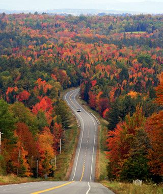 Maine in the fall.