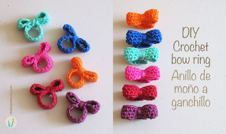 Crochet bow ring/ Anillo de moño http://chabepatterns.com/free-patterns-patrones-gratis/jewelry-joyeria/crochet-bow-ring-anillo-de-mono/?utm_source=CraftGossip+Daily+Newsletter&utm_campaign=49f3f32090-CraftGossip_Daily_Newsletter&utm_medium=email&utm_term=0_db55426a84-49f3f32090-196060585