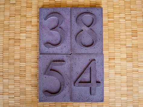 Concrete House Numbers | CHENG Concrete Exchange