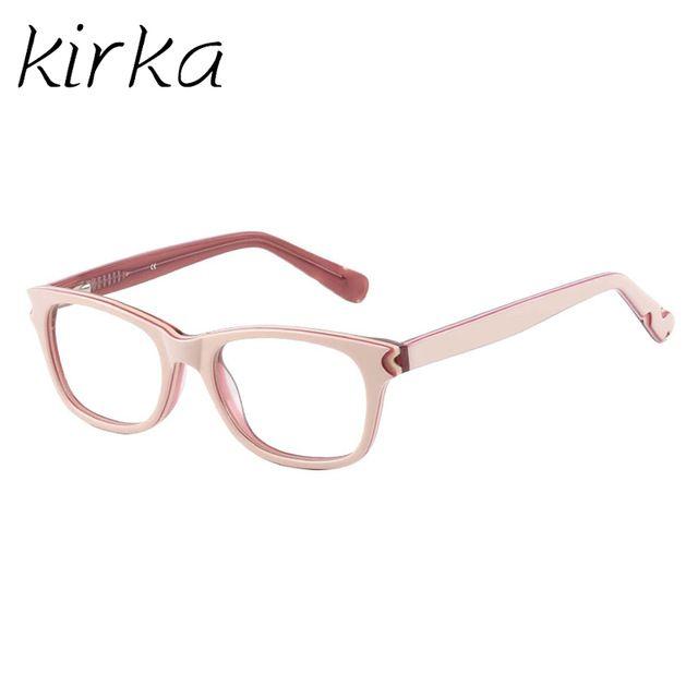 98f6207ea21a Kirka High Quality Brand Acetate Kids Glasses Frame Square Cute Design Myopia  Optical Eyeglass Frames For Girls And Boys Review