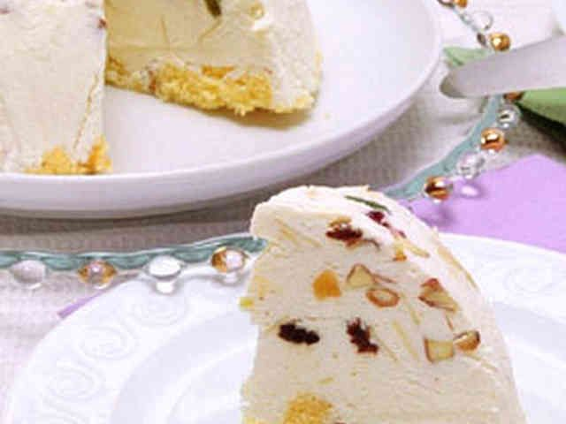 イタリア風チーズアイスケーキ カッサータ。ラカントで。