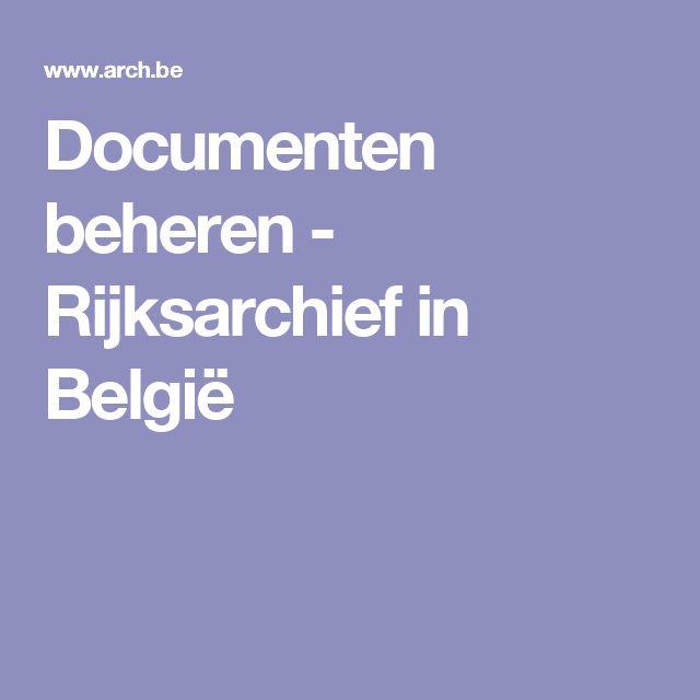 www.arch.be - Rijksarchief