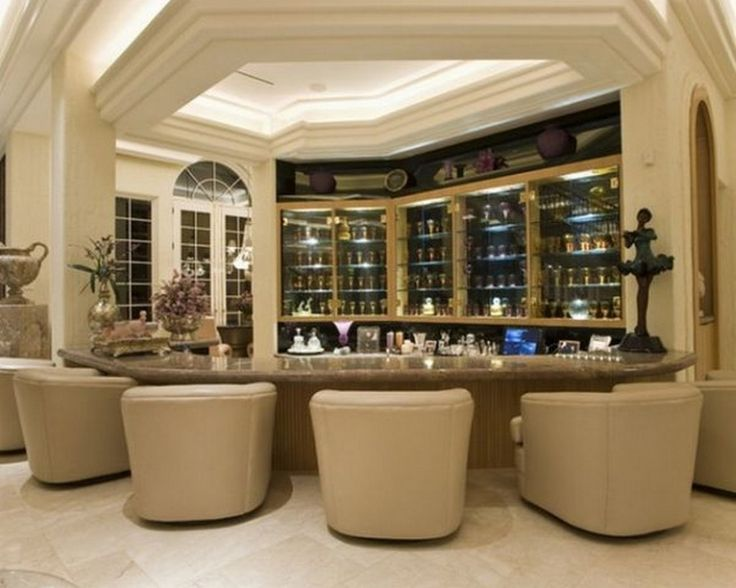 Nice Contemporary Home Bar Design Ideas In Neutral Hues And Luxury Bar  Appliances: Inspirational Home Bar