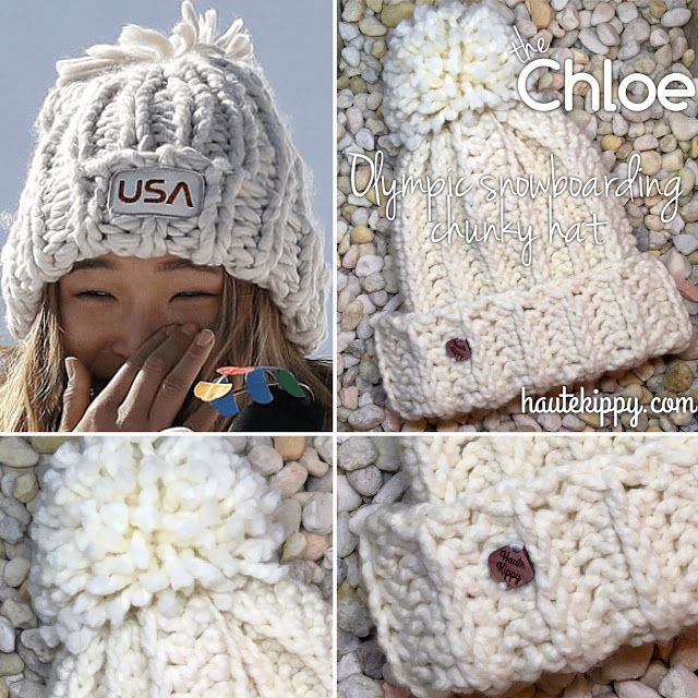 Chloe Kim Olympic Snowboarding Chunky Knit Look Hat Free crochet pattern c390617f588