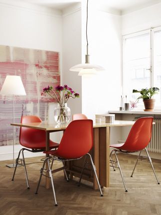 old orange eames chairs.  come live with us anytime.  photo by Jonas Ingerstedt