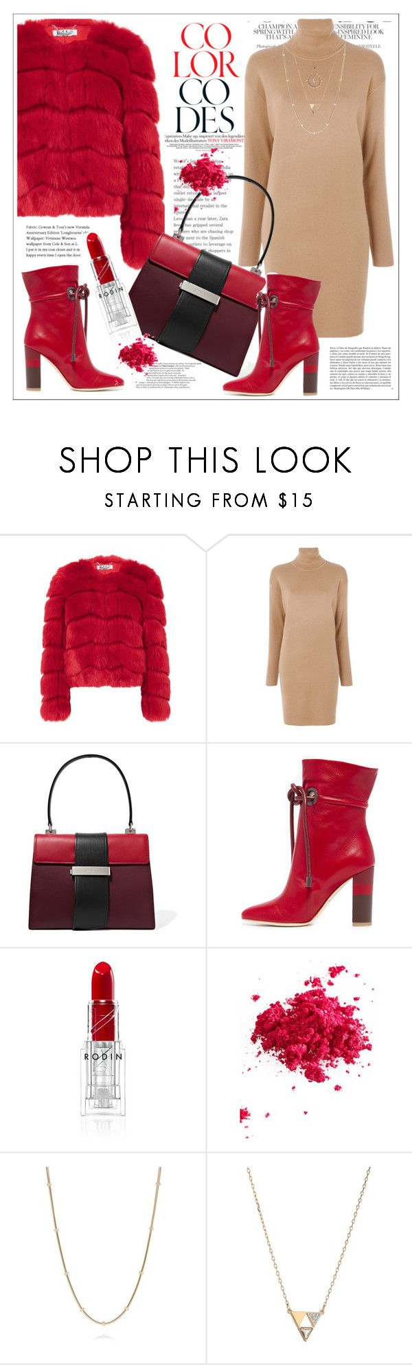"""""""Cranberry Red"""" by stars-5 ❤ liked on Polyvore featuring MICHAEL Michael Kors, Prada, Malone Souliers, Whiteley, Obsessive Compulsive Cosmetics, St. John, Swarovski and Ted Baker"""