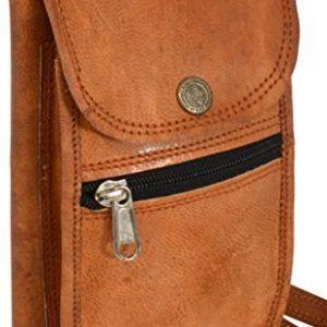 Riñonera de cuero en marrón claro estilo retro vintage - DeCueroOnline.com