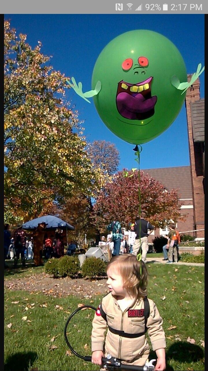 Slimer balloon diy