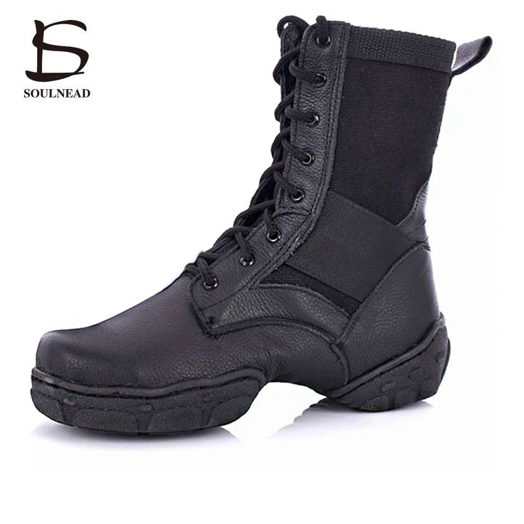 2016 Hot sale PU leather Jazz Dance Shoes Lace up High Boots for Adult woman Black jazz boots sneaker practice women shoes