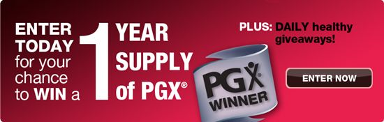 Win a 1 Year Supply of PGX! #contest #PGXWinners
