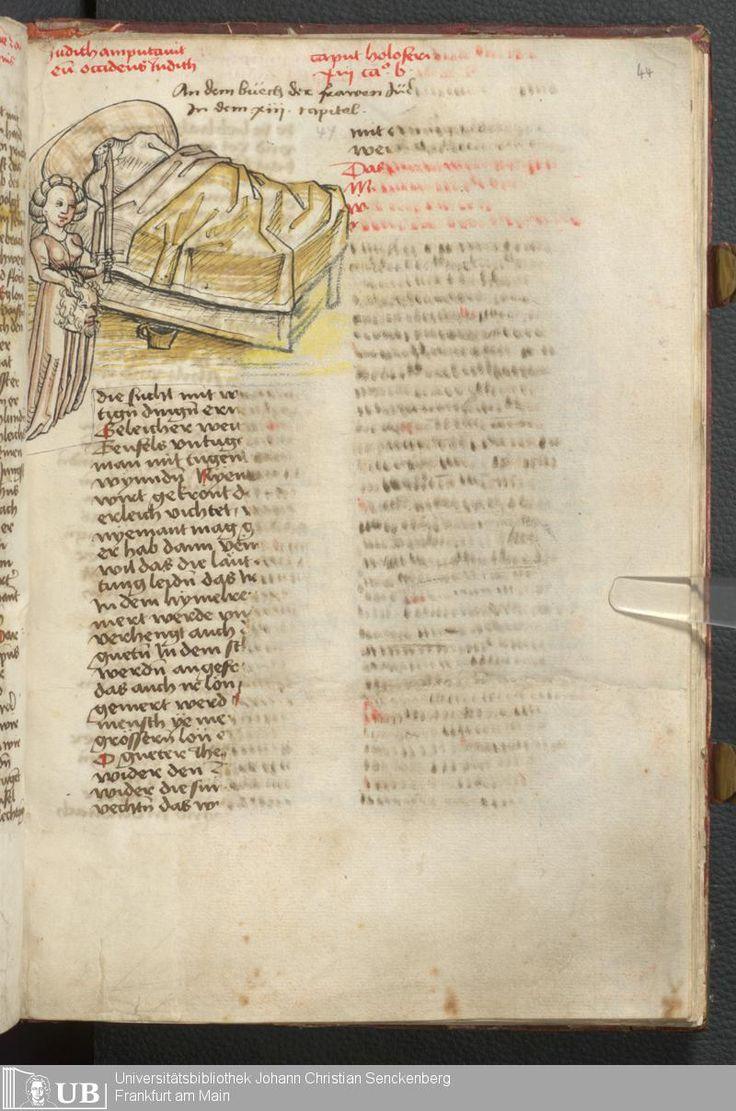 91 [44r] - Ms. germ. qu. 100 - Speculum humanae salvationis deutsch - Page - Mittelalterliche Handschriften - Digitale Sammlungen Bayern, [15. Jh. 3. Viertel]