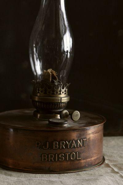 アンティークオイルランプ イギリス P.J.BRYANT