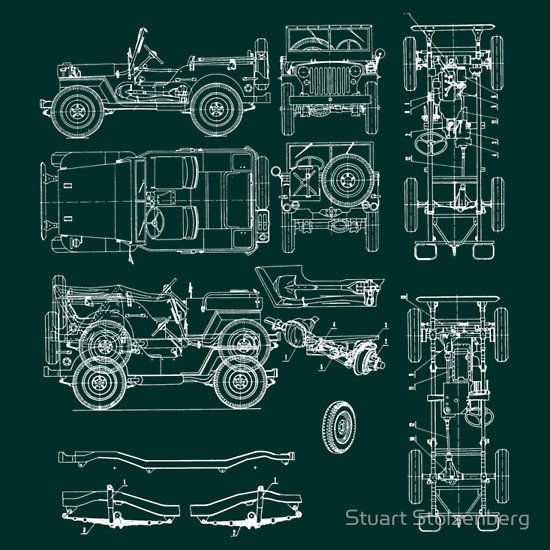 21 best jeep images on pinterest jeeps jeep and engine jeep blueprint by stuart stolzenberg malvernweather Image collections