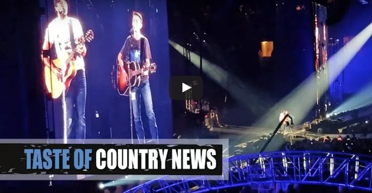 Thirteen-year-old Ethan waited outside Luke Bryan's concert hoping he could sing a little for his hero, and have the country star sign his guitar.