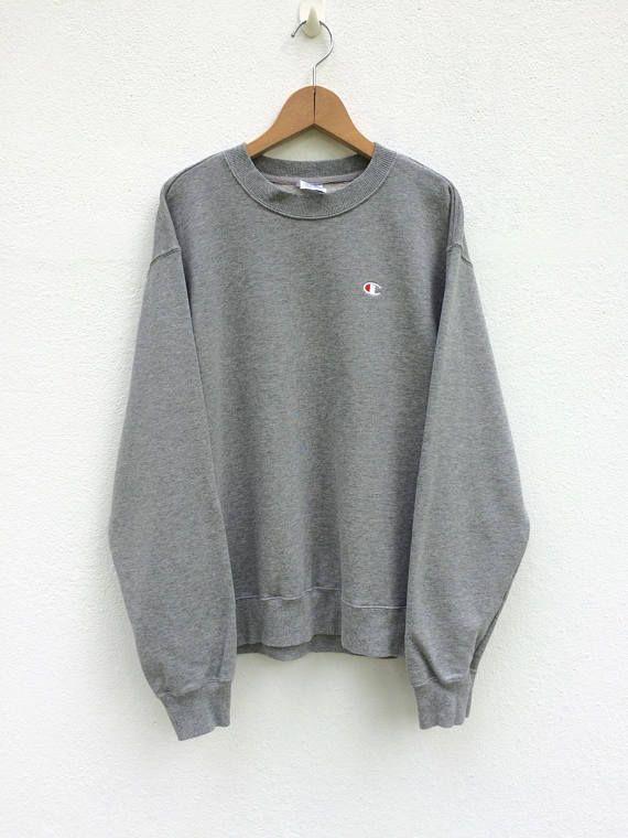 7c918c3ea Sweat Champion Vintage / gris / Champion T Shirt / Champion ...