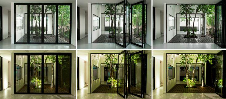Klapdeuren en binnen bomen