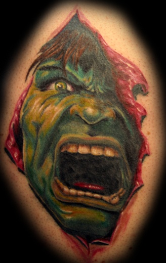 coolest hulk tattoos
